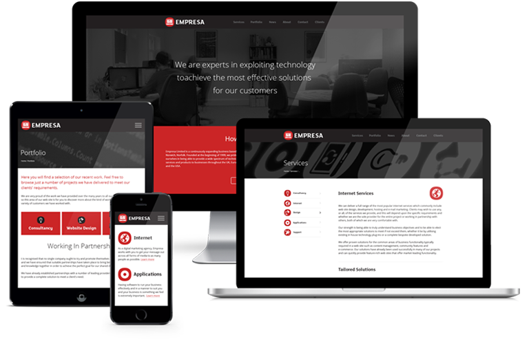 Empresa website showcase